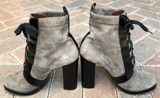 Marc by Marc Jacobs Suede Black Leather Platform Grey Boots Image 9