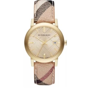 Burberry BU9026 The City Champagne Dial Haymarket Check Strap