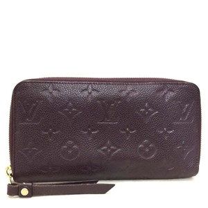 Louis Vuitton Auth Louis Vuitton Monogram Empreinte Leather Zip Around Long Wallet