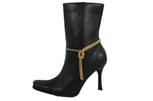 Alwaystyle4you Women Gold Mesh Metal Boot Chains Bracelet Shoe Infinity Braided Charm