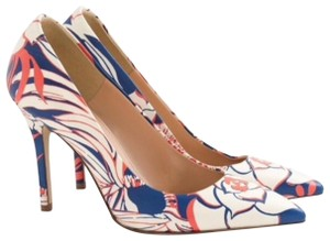J.Crew Red and Blue Pumps