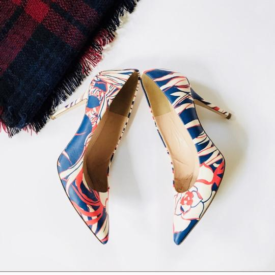 J.Crew Red and Blue Pumps Image 1