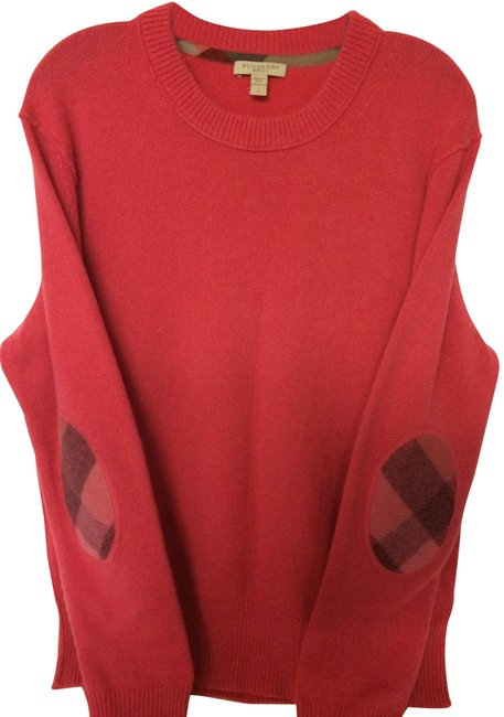 Preload https://img-static.tradesy.com/item/24494128/burberry-brit-cashmere-with-check-elbow-patches-pink-sweater-0-1-650-650.jpg