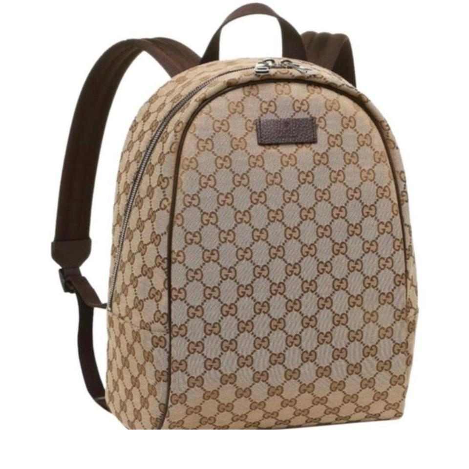 871b7e6b7ab Gucci Gg Brown Canvas Backpack - Tradesy