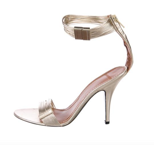 Givenchy Strappy Heels Gold Sandals Image 2