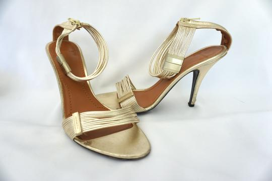 Givenchy Strappy Heels Gold Sandals Image 3