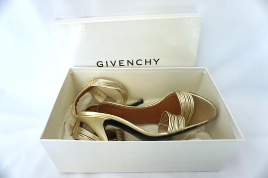 Givenchy Strappy Heels Gold Sandals Image 6