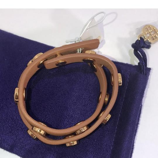 Tory Burch brown Stud double wrap leather Image 2