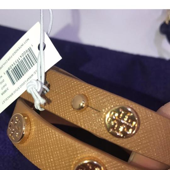 Tory Burch brown Stud double wrap leather Image 3