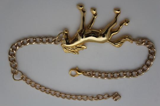 Alwaystyle4you Western Gold Metal Chains Boot Bracelet Wild Horse Bling Anklet Shoe Image 6