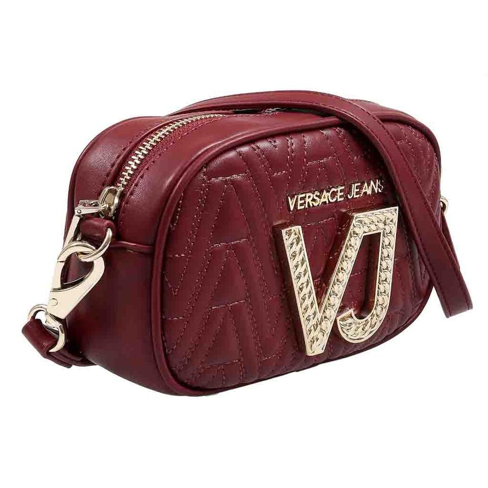 d40315967dd6 Versace Jeans Collection Maroon Faux Leather Cross Body Bag - Tradesy