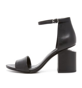 Alexander Wang Abby Leather Ankle Strap Black Sandals