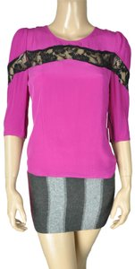 Line & Dot Purple Top Pink