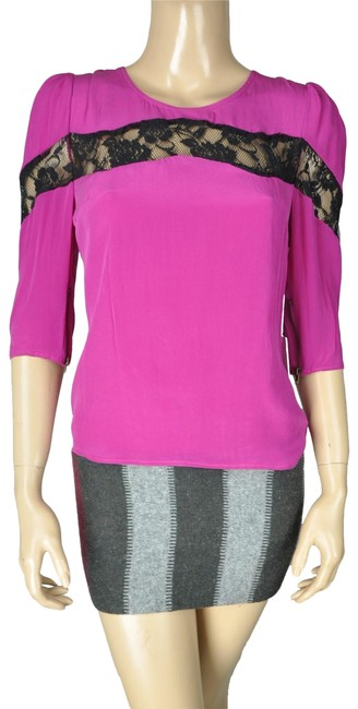 Preload https://img-static.tradesy.com/item/24494351/line-and-dot-pink-black-pinkpurple-shirt-blouse-size-6-s-0-1-650-650.jpg