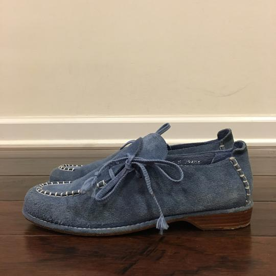 Donald J Pliner Coral Leather Shoes, 8US(G41) Blue Flats Image 2
