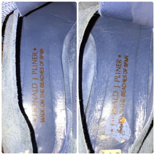 Donald J Pliner Coral Leather Shoes, 8US(G41) Blue Flats Image 7