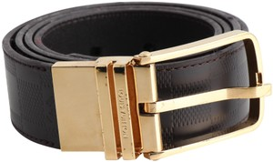 Louis Vuitton Louis Vuitton Brown Boston 35mm Reversible Belt