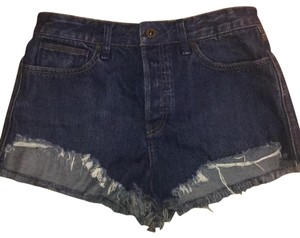 Free People Cut Off Shorts blue