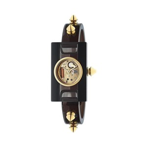 Gucci Ladies Studded Plexiglass Bangle Style Watch