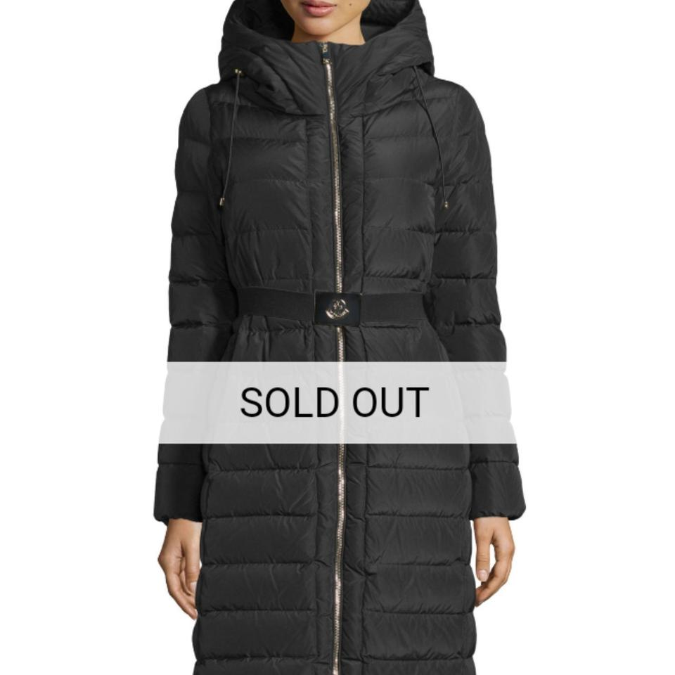 1bc903d6a Moncler Black Imin Long Quilted Puffer Jacket Coat Size 0 (XS) 37% off  retail
