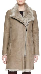 Vince Shearling Cozy Stylish Winter Asymmetrical Fur Coat