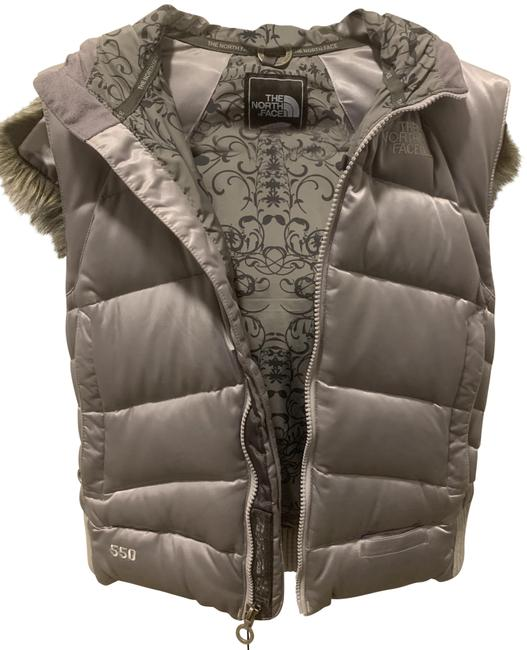 Item - Silver With Fur-lined Hood Vest Size 0 (XS)