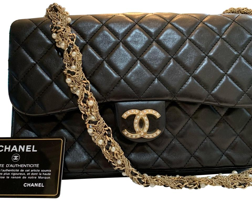 3cd48dbabfdf83 Chanel Classic Flap Limited Edition Westminster Pearl Black Lambskin ...