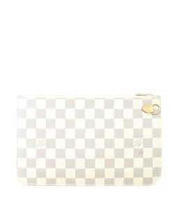 Louis Vuitton Coated Canvas Adult Gold-tone Wristlet in Cream