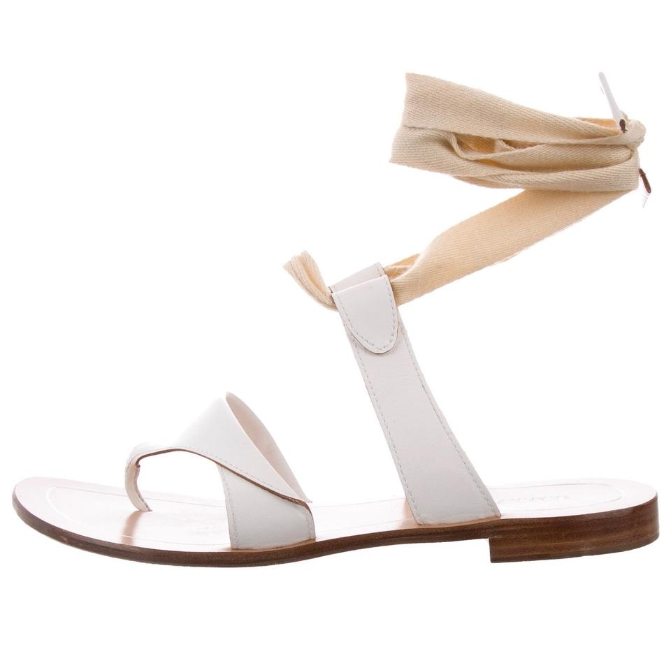 14f4b2f3f6a6 Sarah Flint White Sandals Size US 9.5 Regular (M