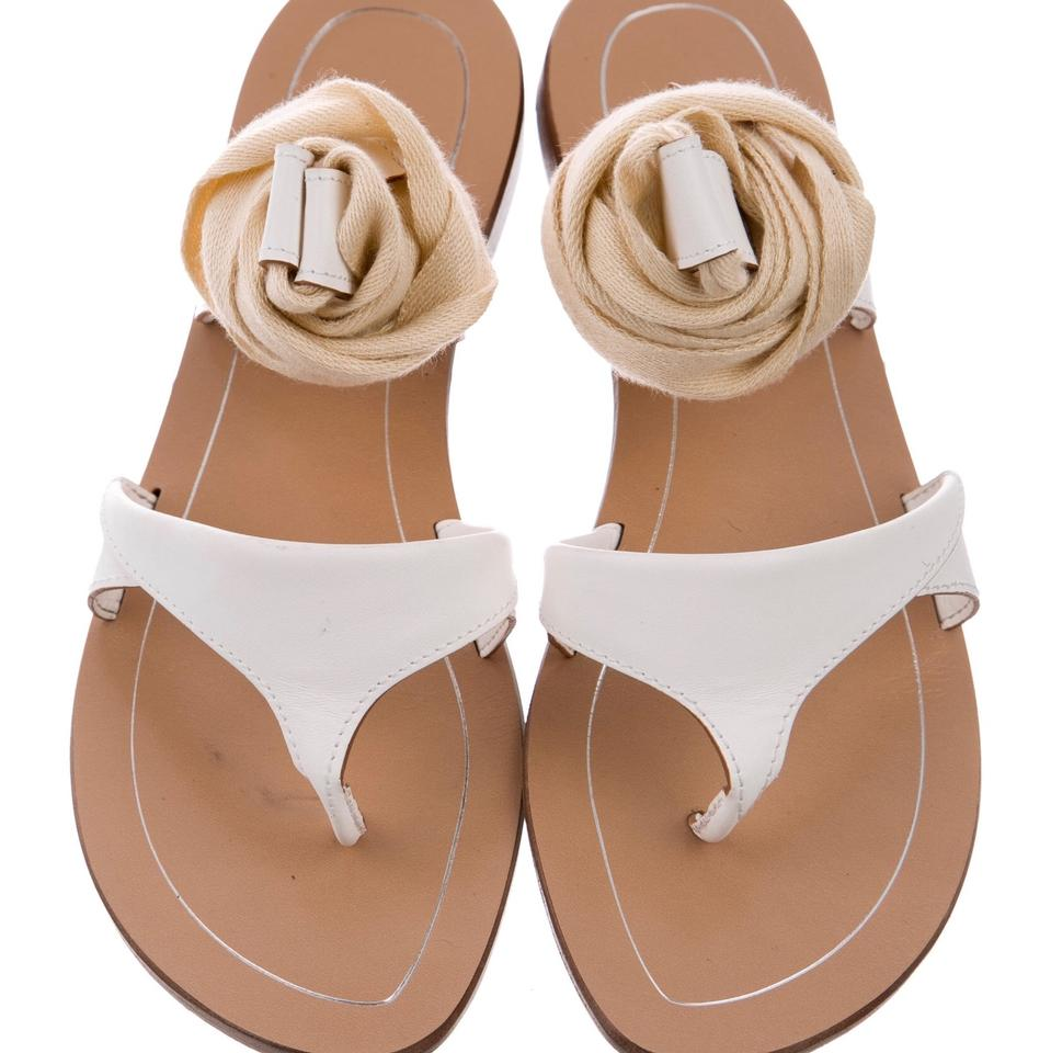30596ac756e5 Sarah Flint White Sandals. Size  US 9.5 Regular (M ...