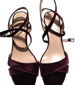 Nine West Burgundy Dark Purple Wedges