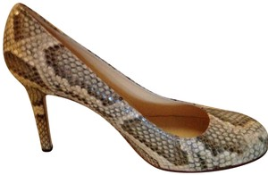 Kate Spade Sand/Neutral Python Print Leather Pumps