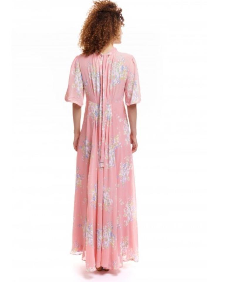 a52fd627d8 Free People Pink Wildflowers Long Casual Maxi Dress Size 12 (L ...