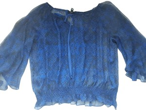 Nicole Sheer Tops Date Night Parker Elizabeth And James Top Blue