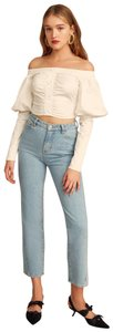 C/meo Collective Offtheshoulder White Crop Australian Top Ivory