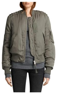 AllSaints Bree Laced Bomber Bomber Dark Sage Bomber Daphne Browell Military Jacket