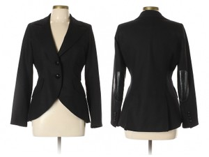 Smythe Equestrian Elbow Patches Sale Wool Jacket Black Blazer