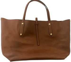 Annabel Ingall Gold Studded Pebble Leather Tote in Toffee