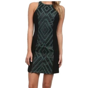 KAS New York short dress Black/green on Tradesy