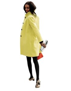 Boden Mustard Wool Ingrid Trench Pea Coat