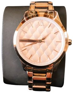 A|X Armani Exchange Rose Gold Armani Watch