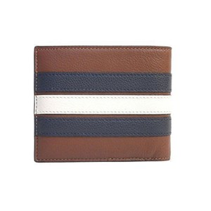 Coach NWT Coach Men's 3-In-1 Varsity Leather Stripe Compact ID Wallet F24649
