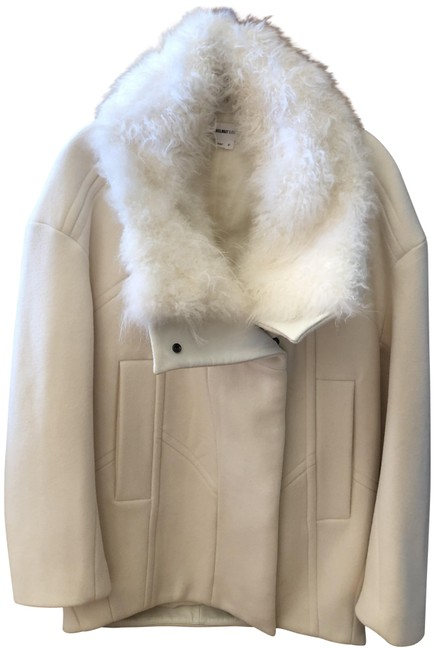 Item - Winter White Inclusion Collar Coat Size OS