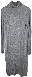 Grey Maxi Dress by Peserico Wool Longsleeve