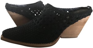 Jeffrey Campbell Suede Woven Black Mules