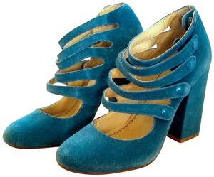 BP. Clothing Leather Suede Funky Modern Blue Pumps