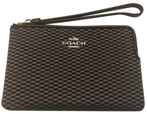 Coach New Fall New Fall Bags New Bags New Wristlet in grey/black