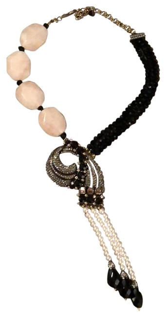 Item - Pink Black and Pearl Necklace