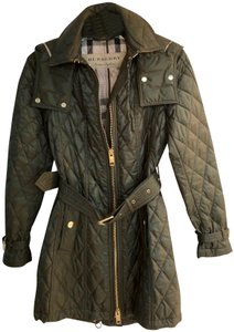 Burberry Quilted Zip Military Jacket