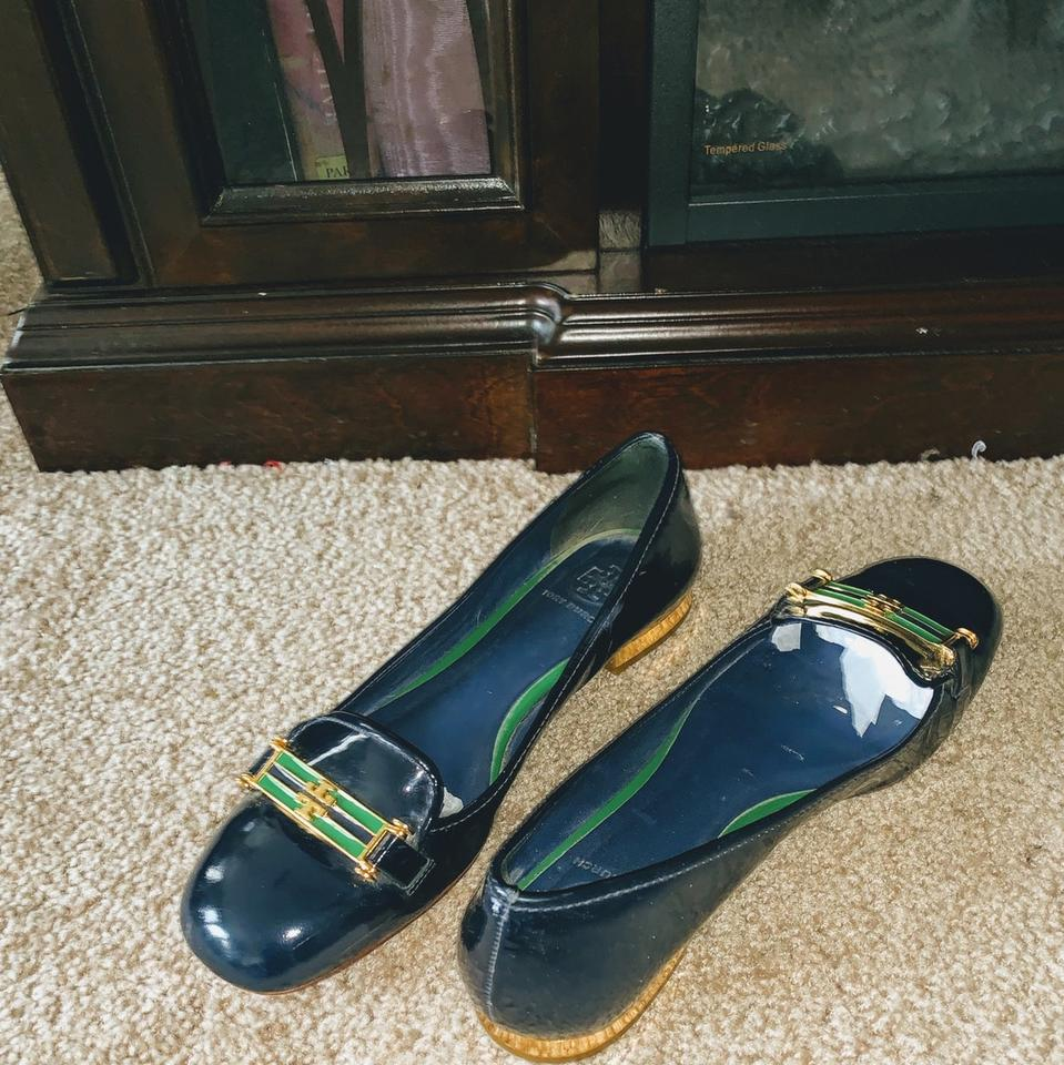 0a04460b5fe4a4 Tory Burch (Sale) Navy Blue Loafers  Flats Size EU 38.5 (Approx. US ...